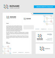 cube business letterhead envelope and visiting vector image vector image
