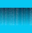 cyberspace computer cloud random opacity numbers vector image