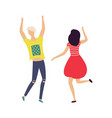 dancing people isolated on white cartoon vector image vector image
