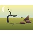 dead tree vector image