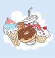 desert food in one vector image vector image