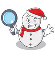 detective snowman character cartoon style vector image vector image