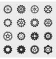 Different types of gears vector image vector image