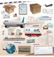 Distribution and shipping elements vector | Price: 1 Credit (USD $1)