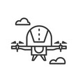 drone - line design single isolated icon vector image