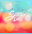 event stationery invitation with floral colors vector image