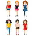 Faceless kids vector image vector image