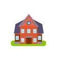 Family Cotage Suburban House Exterior Design vector image vector image