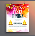 festa junina celebration party poster design vector image vector image