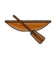 fishing canoe isolated icon vector image vector image