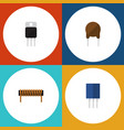 flat icon technology set of triode receiver vector image vector image