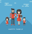Flat Style Happy Family Parents with Son and vector image