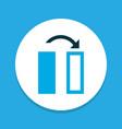 flip icon colored symbol premium quality isolated vector image