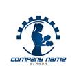 gym woman logo vector image