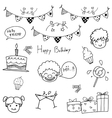 Hand draw birthday doodle vector image vector image