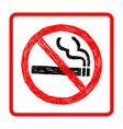 hand drawn doodles of no smoking sign vector image