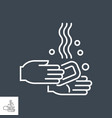 hand washing related thin line icon vector image vector image
