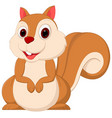 Happy squirrel cartoon