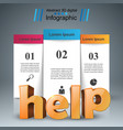 help 3d business infographics vector image