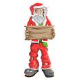 Homeless Santa Claus vector image vector image