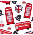 Landmarks icon set United kingdom design vector image