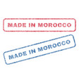 made in morocco textile stamps vector image vector image