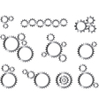 Mechanic gear wheels vector image vector image