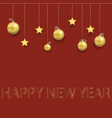 new year beautiful greeting card with christmas vector image