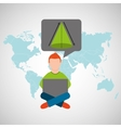 online training education-student geometry vector image vector image