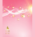 Pink background with DNA vector image vector image