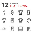place icons vector image vector image