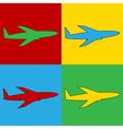 Pop art plane icons vector image