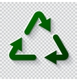 Recycling icon Eco friendly concept vector image vector image