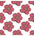 red flower seamless hand drawn pattern for design vector image vector image