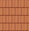 Roof tile seamless background vector image