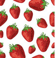 seamless background strawberries vector image vector image