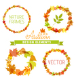 Set of autumn frames on white background vector image vector image