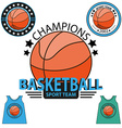 Set of Basketball championship logo vector image