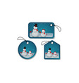 Set of Christmas bubbles stickers and labels vector image vector image