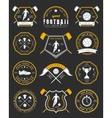 Set of Football Badge and Logo vector image vector image