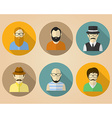 Set of male avatars or pictograms for social vector image vector image