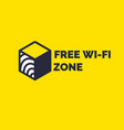 sign and symbol free wireless internet wi-fi vector image vector image