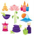 spa and asian environment logos vector image vector image