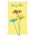 Springtime flower vector image vector image