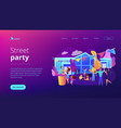 street party concept vector image vector image
