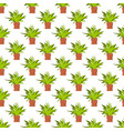 succulent seamless pattern colorful interior vector image vector image