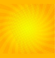 sunburst on yellow background with dots vector image