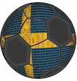 swedish flag with soccer ball background vector image
