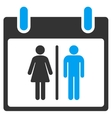 Water Closet Calendar Day Toolbar Icon vector image vector image