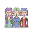 women in half body with casual clothes and wavy vector image vector image